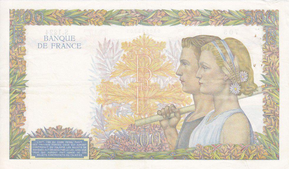 France 500 Francs La Paix - 31-10-1940 Série S.1224