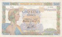 France 500 Francs La Paix - 31-10-1940 Série X.1214 - TB+