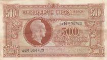 France 500 Francs Marian - 1945 - Serial 24M - VF