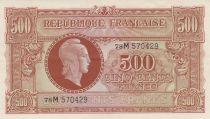 France 500 Francs Marian - 1945 - Serial 78M - XF+