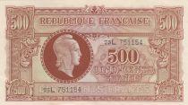 France 500 Francs Marian - 1945 Letter L - Serial 75 L