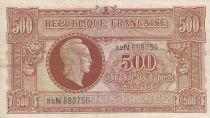 France 500 Francs Marian - 1945 Serial N - Serial 32N 688756