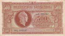 France 500 Francs Marianne - 04-06-1945 Lettre L - Série 82 L