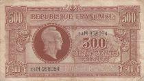 France 500 Francs Marianne - 04-06-1945 Lettre M - Série 14 M