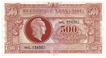 France 500 Francs Marianne - 1945 Letter L - Serial 09 L - F to VF