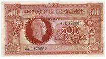 France 500 Francs Marianne - 1945 Letter L - Serial 64 L - VF