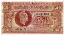 France 500 Francs Marianne - 1945 Letter M - Serial 19 M - VF