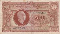 France 500 Francs Marianne - 1945 Lettre M - Série 77 M