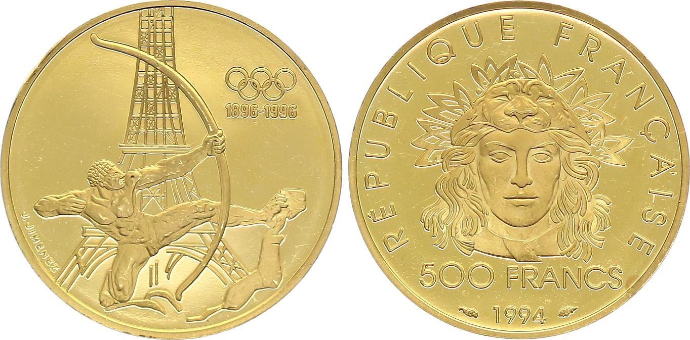 France 500 Francs Or Jeux Olympiques de 1996 - SPL