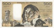 France 500 Francs Pascal - 02/01/1969 -  Serial N. 12