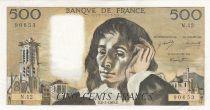 France 500 Francs Pascal - 02/01/1969 -  Série N. 12 - 2ième ex.