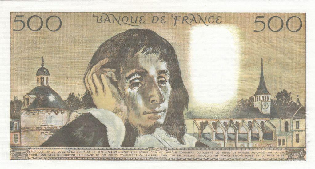 France 500 Francs Pascal - 02-01-1969 - R.9