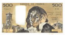 France 500 Francs Pascal - 02-01-1969  Serial P.11 -  XF