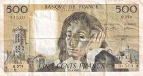France 500 Francs Pascal - 02-01-1992 Série Q.374 - TTB