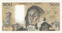 France 500 Francs Pascal - 02-07-1981 Serial Q.144