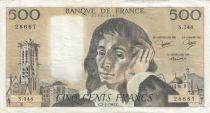 France 500 Francs Pascal - 02-07-1981 Série S.144 - TTB