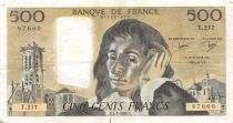 France 500 Francs Pascal - 03-01-1985  Serial T.217 -  VF