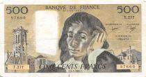 France 500 Francs Pascal - 03-01-1985 Série T.217 - TTB