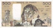 France 500 Francs Pascal - 03-01-1991  Serial X.339 - XF+