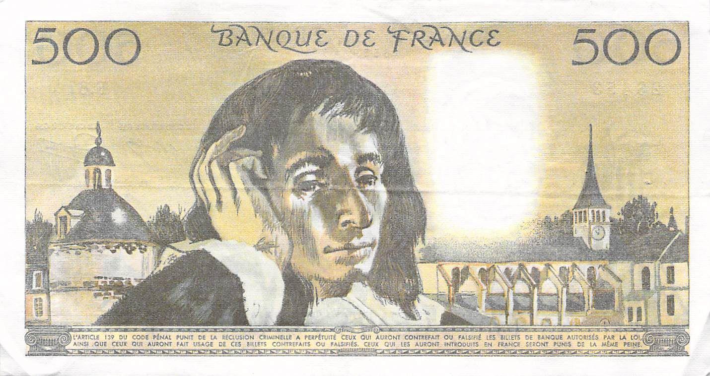 France 500 Francs Pascal - 03-02-1977 - Série F.67 - TTB+