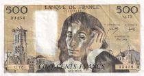 France 500 Francs Pascal - 03-02-1977 - Série Q.72 - TTB