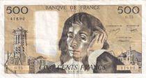 France 500 Francs Pascal - 03-11-1977 - Série O.75 - TTB