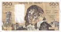 France 500 Francs Pascal - 03-11-1977 - Série O.78 - TTB+