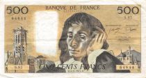 France 500 Francs Pascal - 03-11-1977  Serial S.85 -  VF