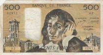 France 500 Francs Pascal - 04-01-1968 - Série J.2