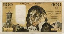 France 500 Francs Pascal - 04-01-1968 Serial U.3 - VF