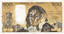 France 500 Francs Pascal - 04-01-1968 Série H.3 - TB