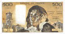 France 500 Francs Pascal - 04-01-1968 Série H.3-11611 - TTB