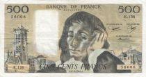 France 500 Francs Pascal - 04-06-1981 Série K.138 - TTB