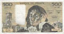 France 500 Francs Pascal - 04-06-1981 Série p.140 - TTB