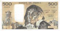 France 500 Francs Pascal - 04-09-1980 - Série V.120 - SUP