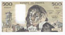 France 500 Francs Pascal - 04-09-1980 Série Q.124