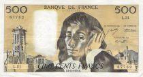 France 500 Francs Pascal - 04-10-1973 - Série L.31 - PTTB