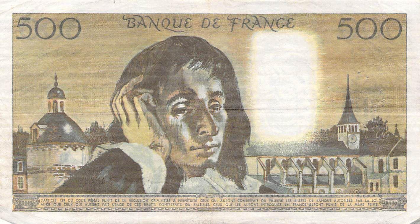 France 500 Francs Pascal - 04-10-1973 - Série O.32 - PTTB