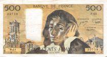 France 500 Francs Pascal - 04-11-1976 Série P.64 - TTB