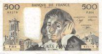 France 500 Francs Pascal - 05-07-1990 Série P.314 - TTB