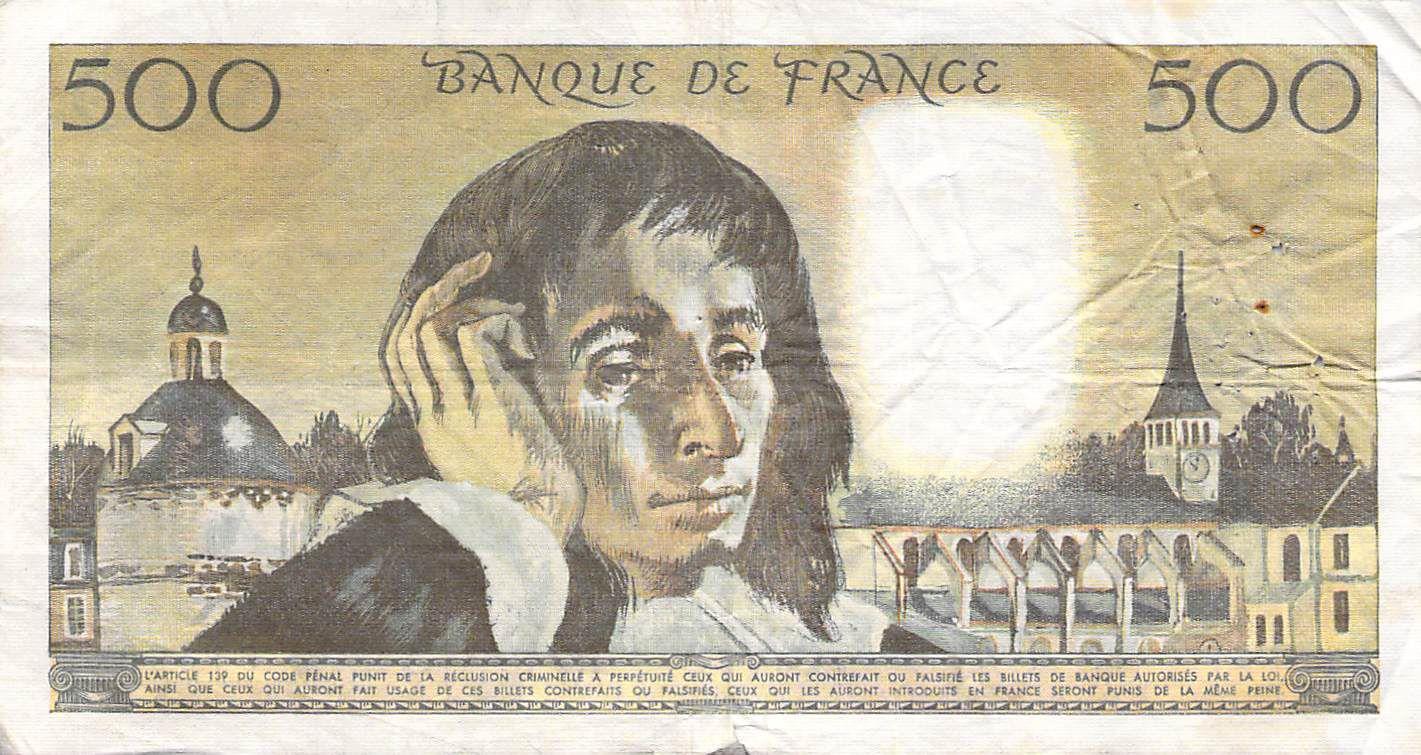 France 500 Francs Pascal - 05-08-1971 - Série B.24 - TB