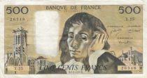 France 500 Francs Pascal - 05-08-1971 Serial X.25 - F - P.156