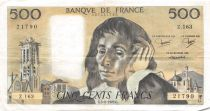 France 500 Francs Pascal - 05-08-1982 Série Z.163 - TTB