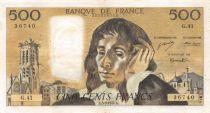 France 500 Francs Pascal - 05-09-1974 - Série G.41 - TTB