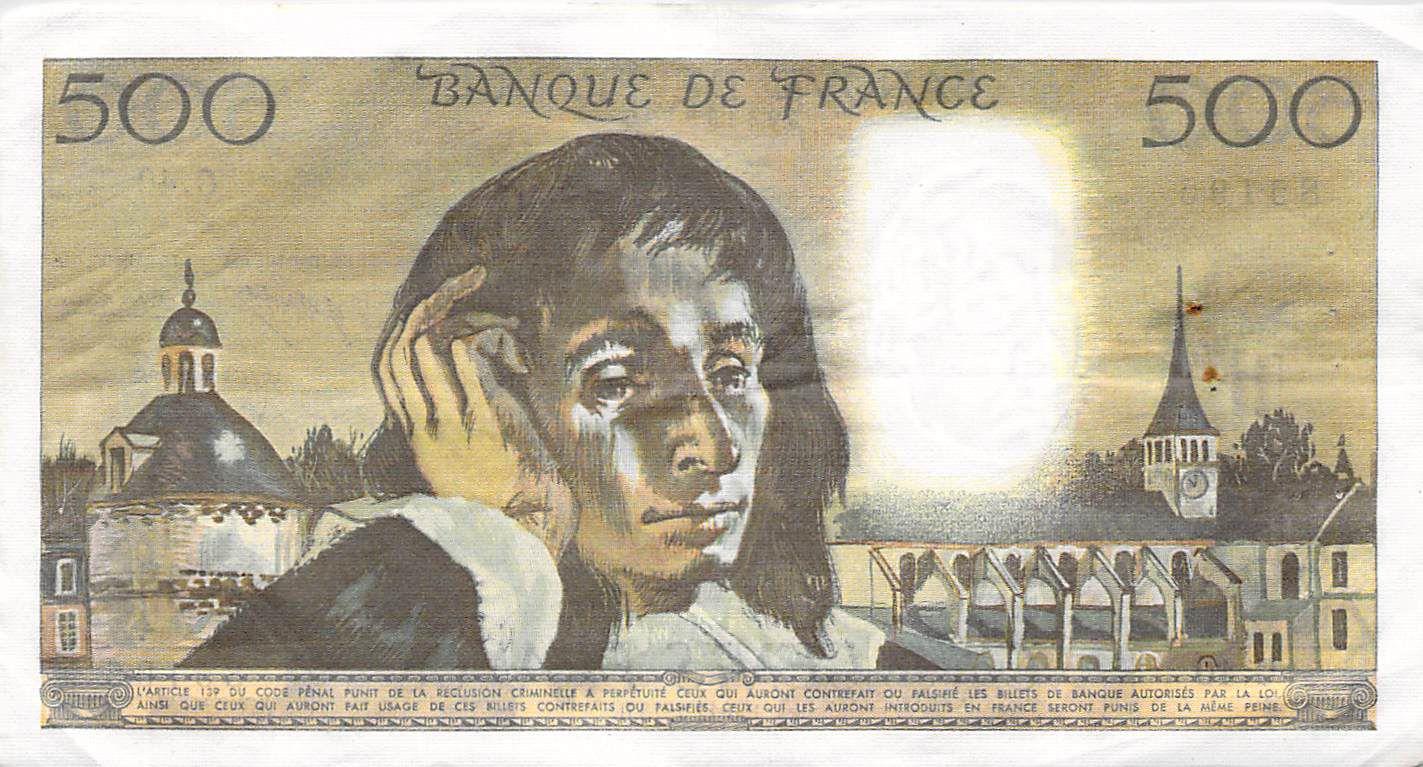 France 500 Francs Pascal - 05-09-1974 - Série Q.42 - TTB+
