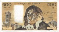 France 500 Francs Pascal - 05-09-1974 Série J.42 - TTB