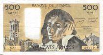 France 500 Francs Pascal - 05-10-1978 Série G.88 - TTB