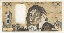 France 500 Francs Pascal - 05/12/1968 -  Serial G.6