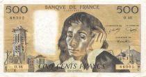 France 500 Francs Pascal - 05-12-1974  Serial O.46 - VF
