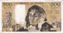 France 500 Francs Pascal - 05-12-1974 Série A.44 - TB